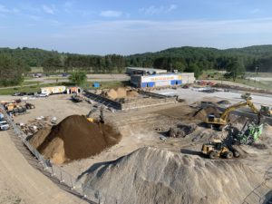 07.06.19 Arena and gymnasium/new addition foundations in progress.