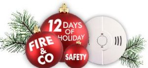 Logo 12 Days of Holiday Fire CO Safety