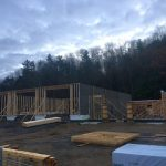 Construction of the new Fire Hall on Highway 35