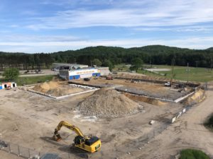 June 19, 2019 - Arial view of the completed footings.