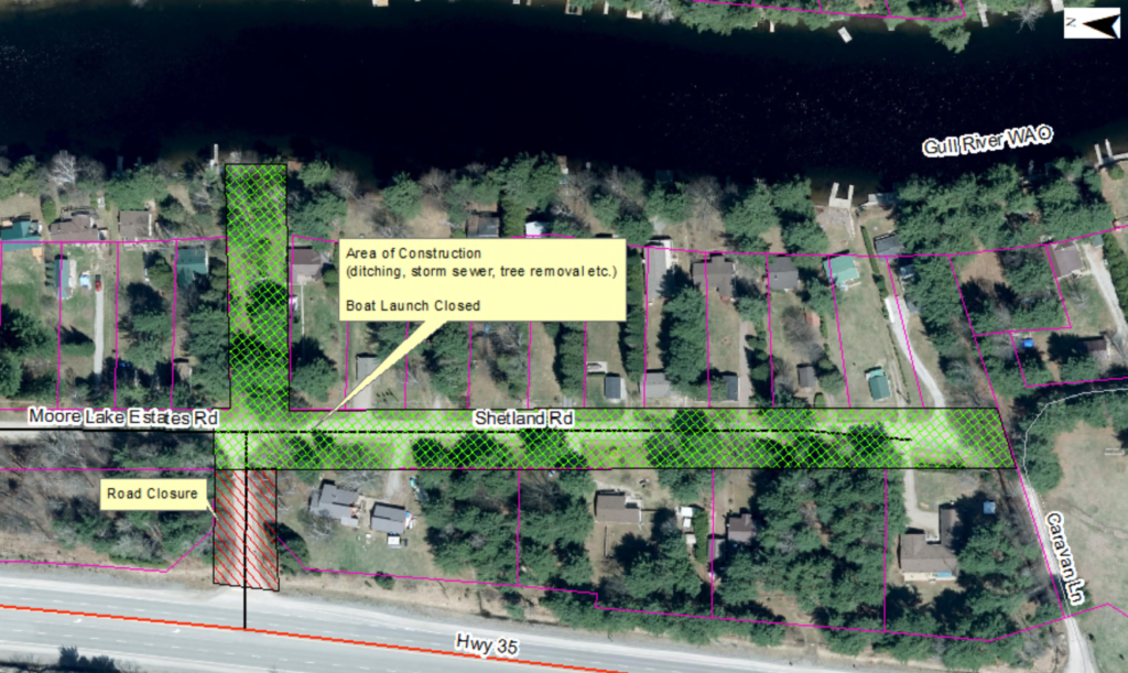 phot map of the Moore Lake Estates Drainage Improvement Project