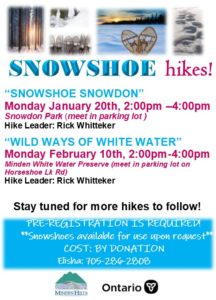 Snowshoe Hikes Information Poster
