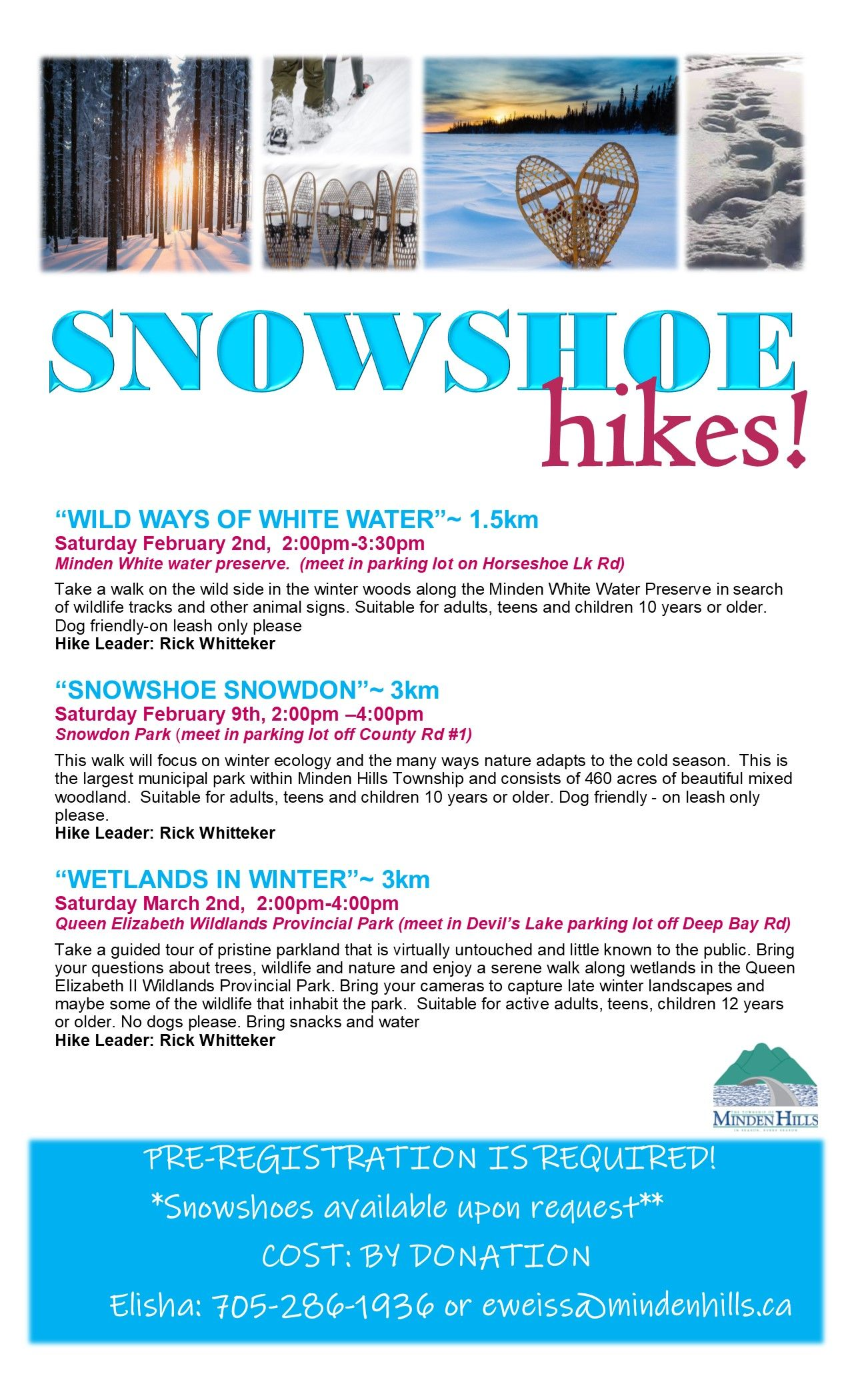 Snowshoe Hikes Poster